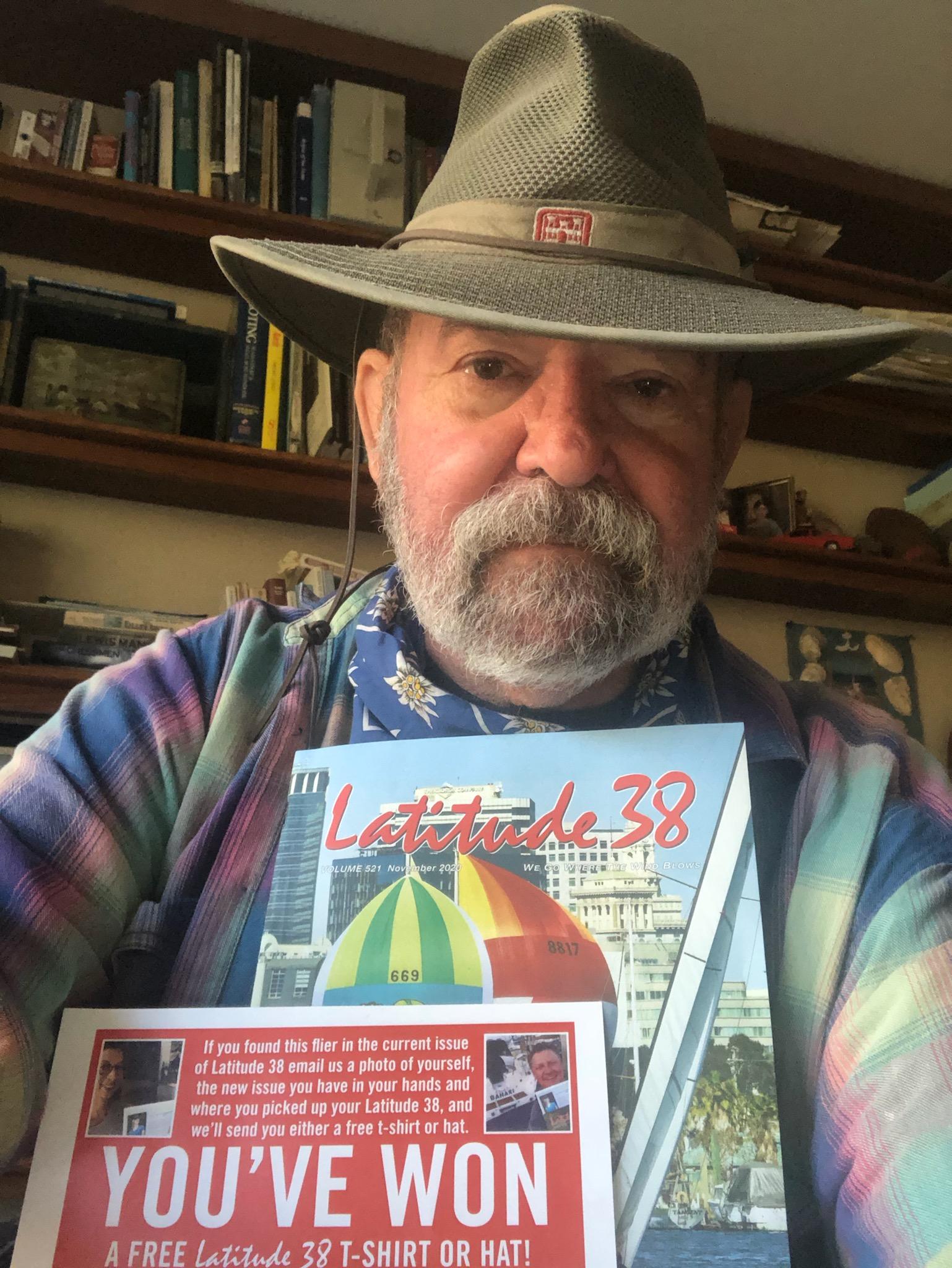 Len Cardoza with his Golden Ticket