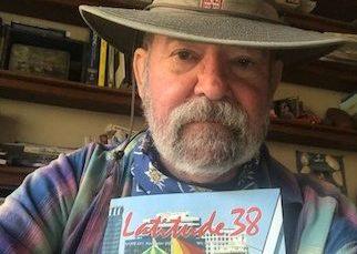 Len Cardoza with Golden Ticket and Magazine