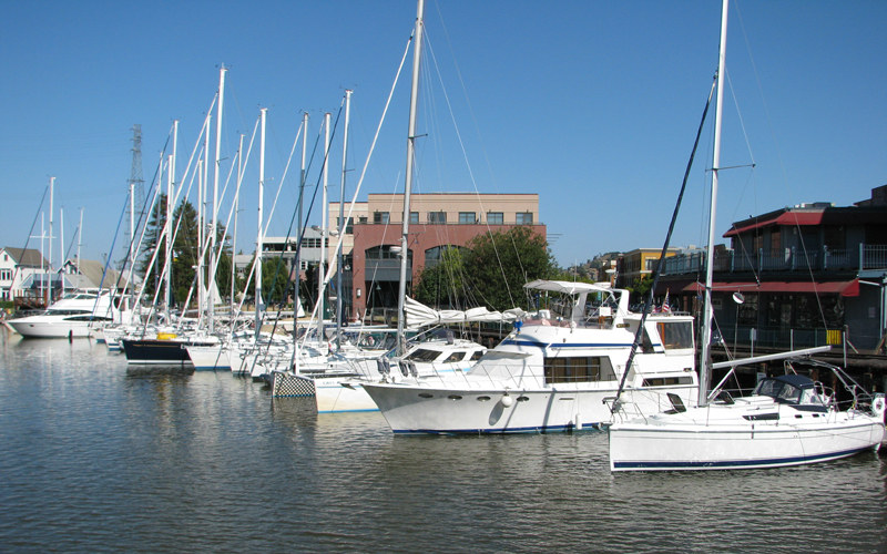 Petaluma downtown docks