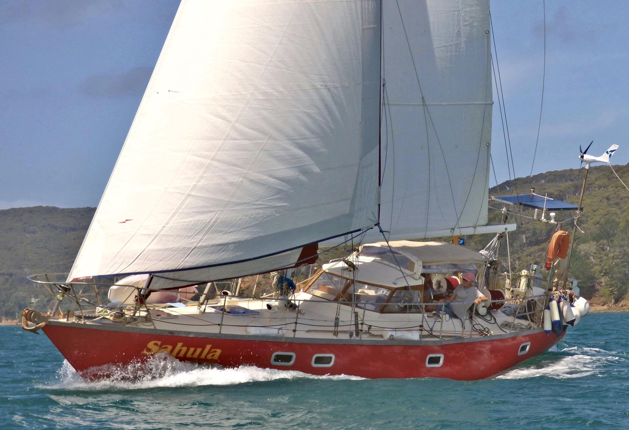 Sahula under sail
