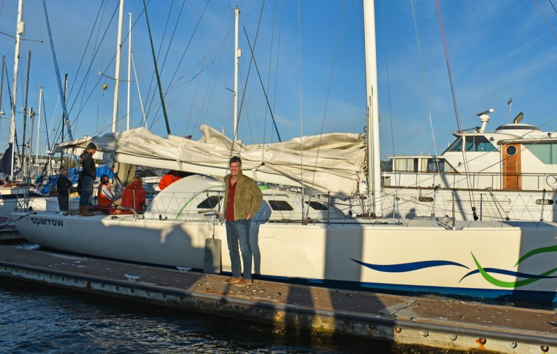 Whitall and Sparrow at the dock