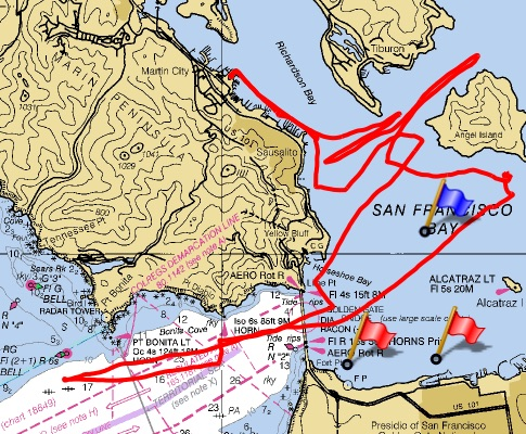 Tracking Irie's day on the Bay
