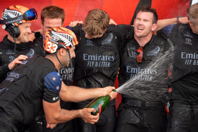 ETNZ champagne celebration