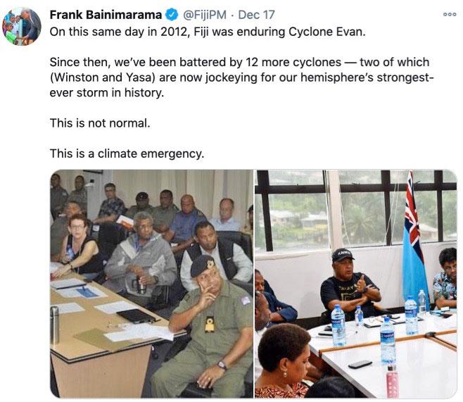 Tweet from Bainimarama