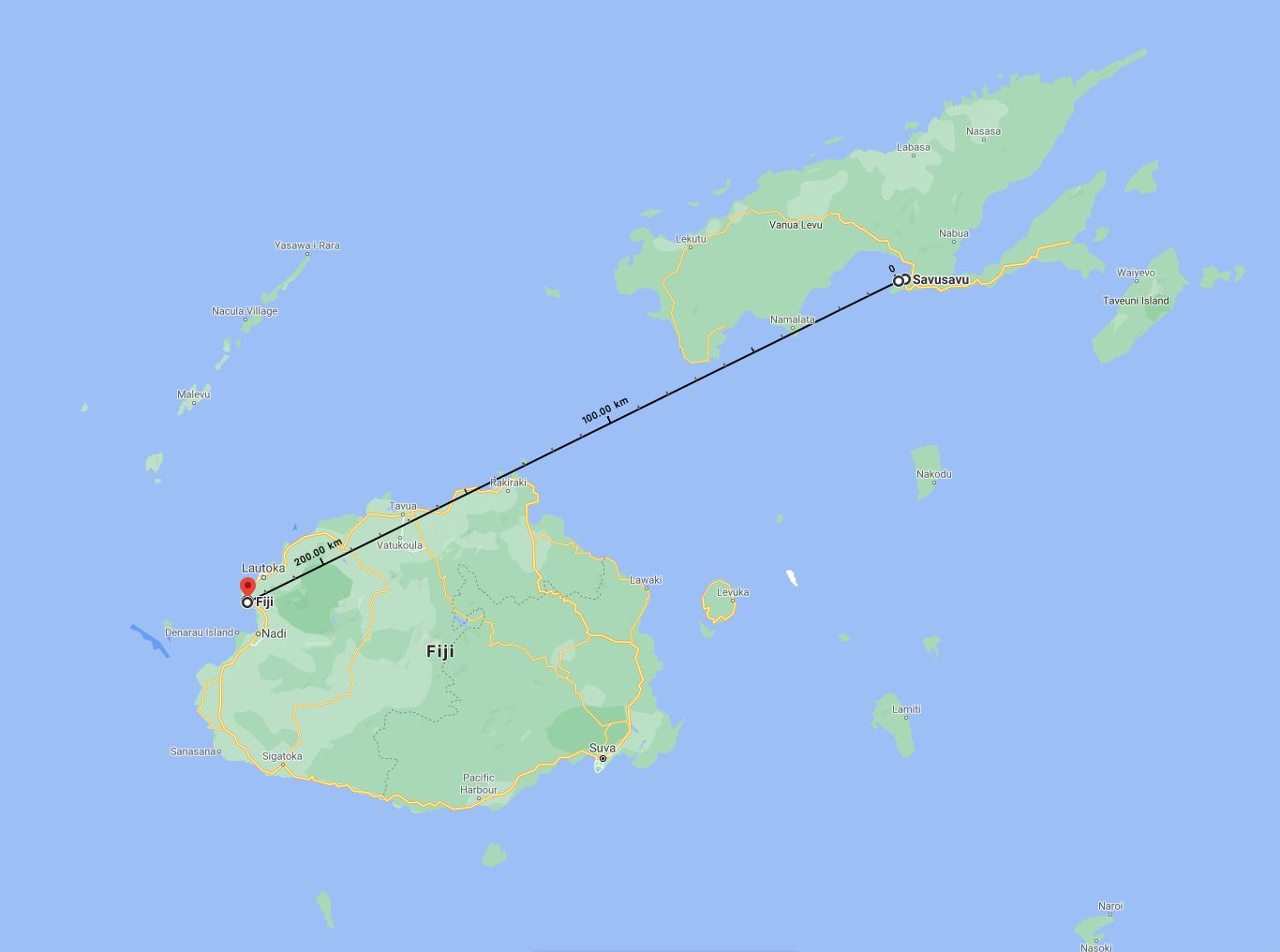 Cyclone Yasa path over Vuda Point, SavuSavu