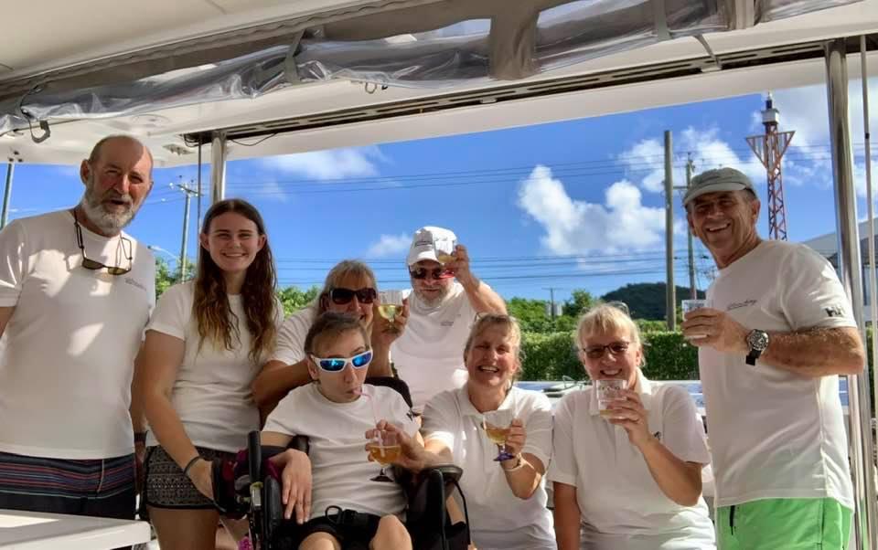 Celebrating after Atlantic crossing