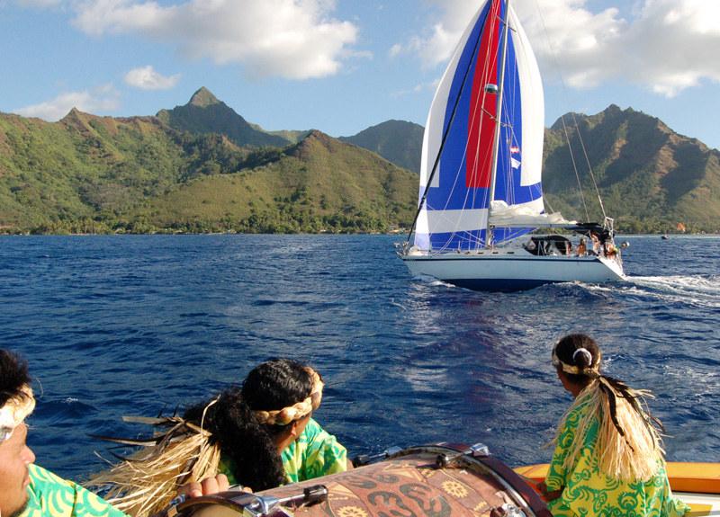 Arriving in Tahiti