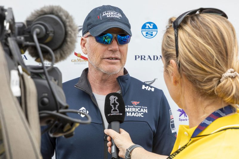 Terry Hutchinson being interviewed