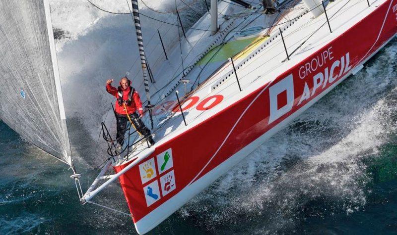 Damien Seguin on the bow