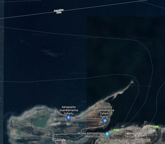 Satellite view of Puerto Williams