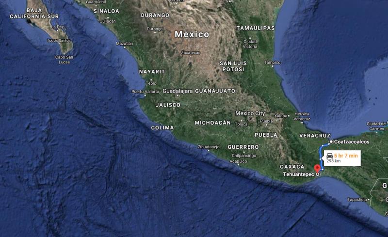 Mexico's Tehuantepec isthmus rail corridor