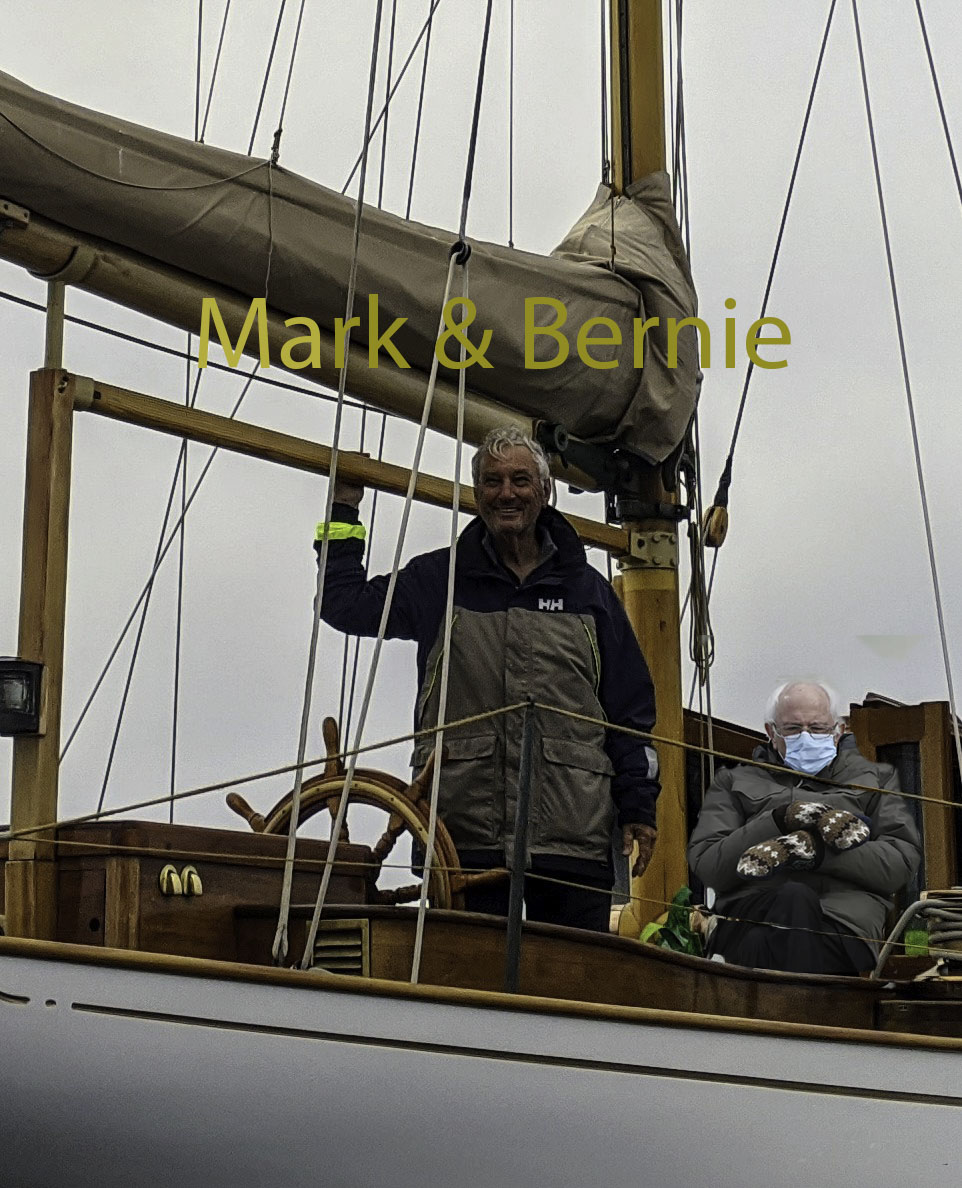 Mark and Bernie aboard 'Hurrica V'