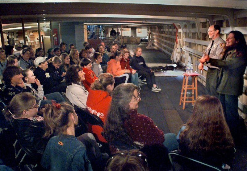 singers aboard historic ferryboat