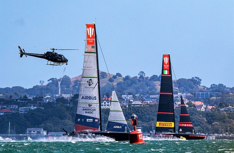 Patriot and Luna Rossa with helicopter