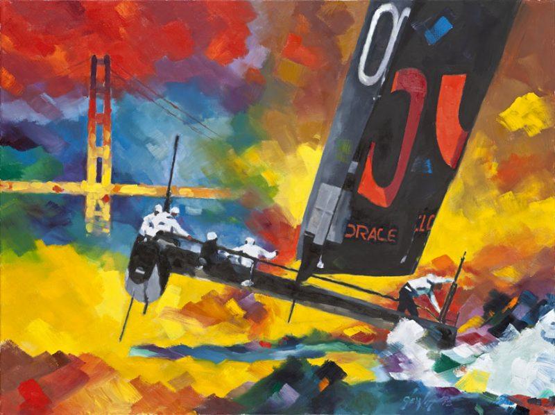 AC cat at Golden Gate Bridge