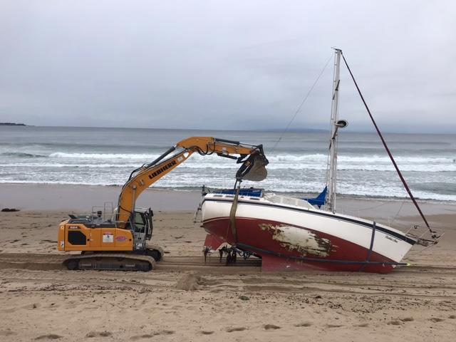 Sailboat Beached