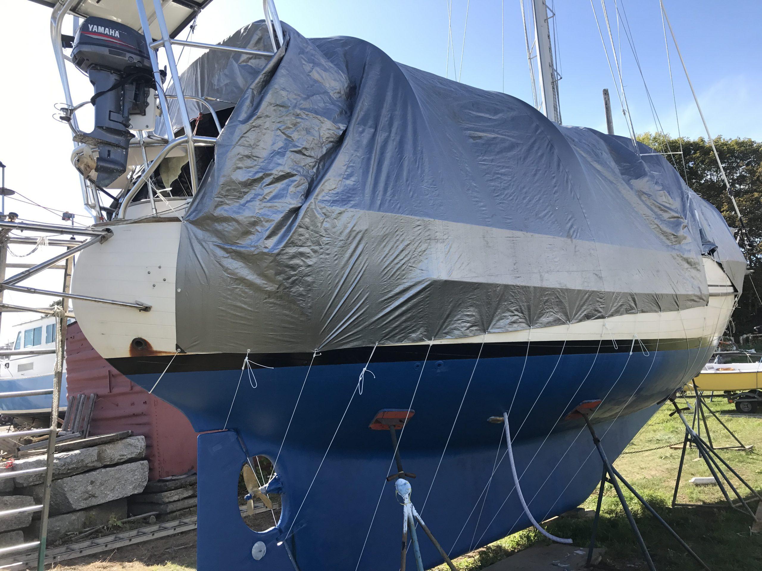 sailboat on the hard