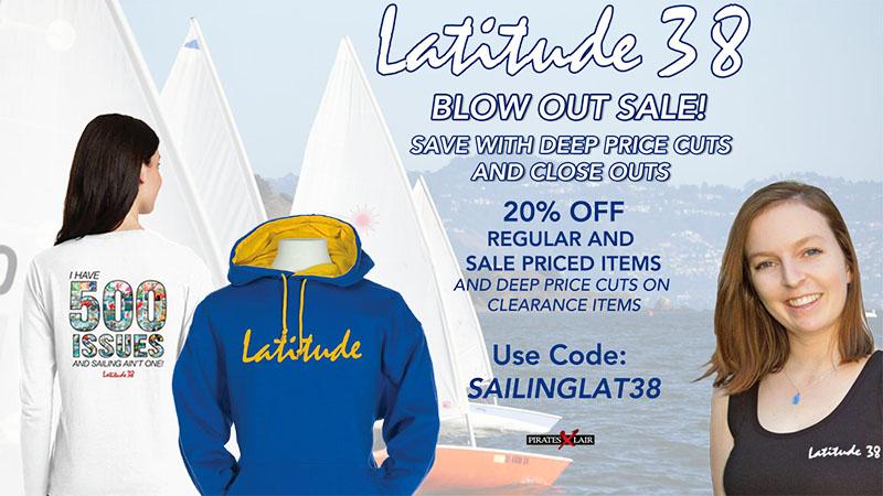 Latitude 38 clearance sale ad