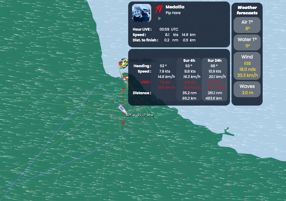 Pip Hare of Medallia Finishes the Vendee Globe