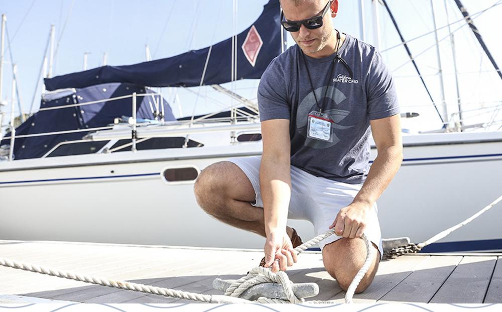 California Boater Card - man on dock