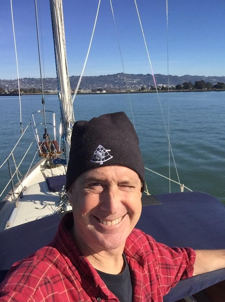 Ted Crocker aboard Hummingbird