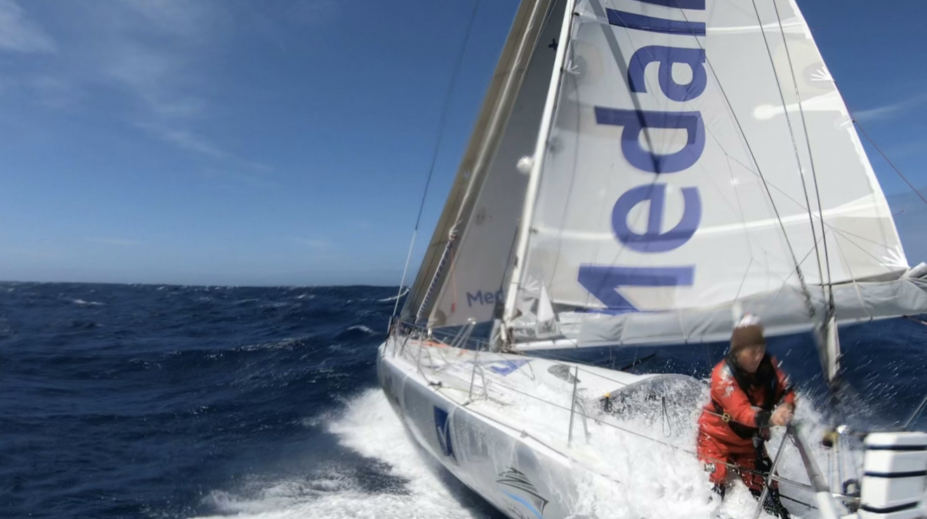 Pip Hare aboard Medallia