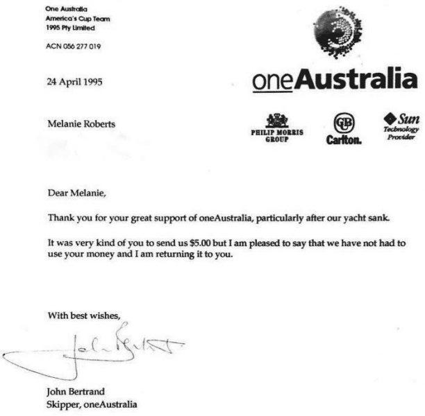 Australia One Letter