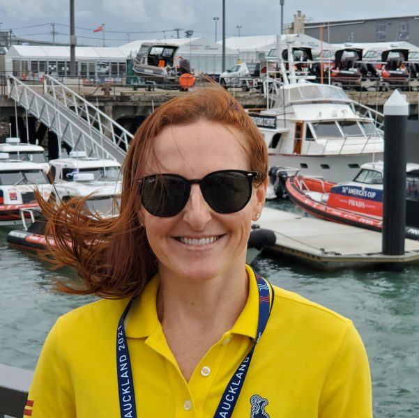 Melanie Roberts at the dock