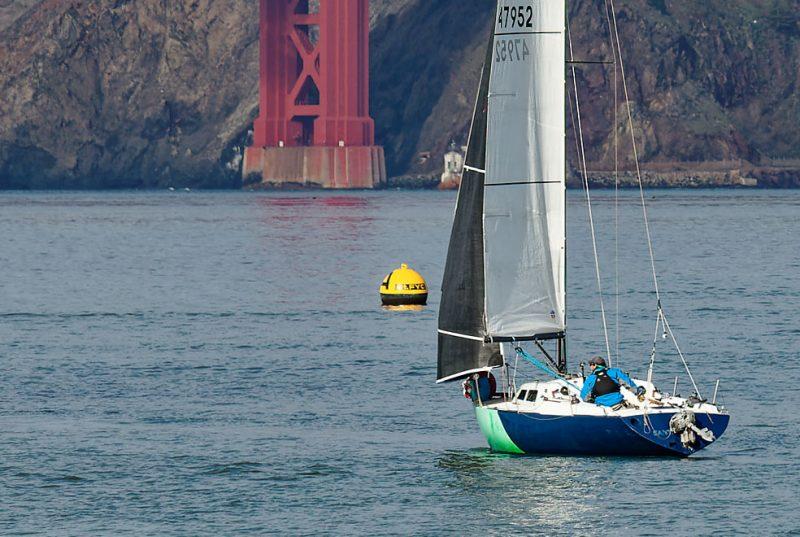 Wolpertinger heads toward the Golden Gate Bridge