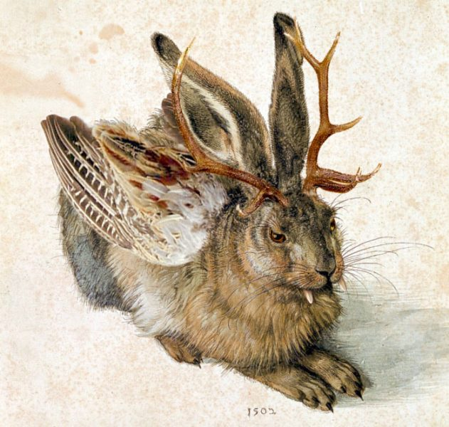 painting of a wolpertinger