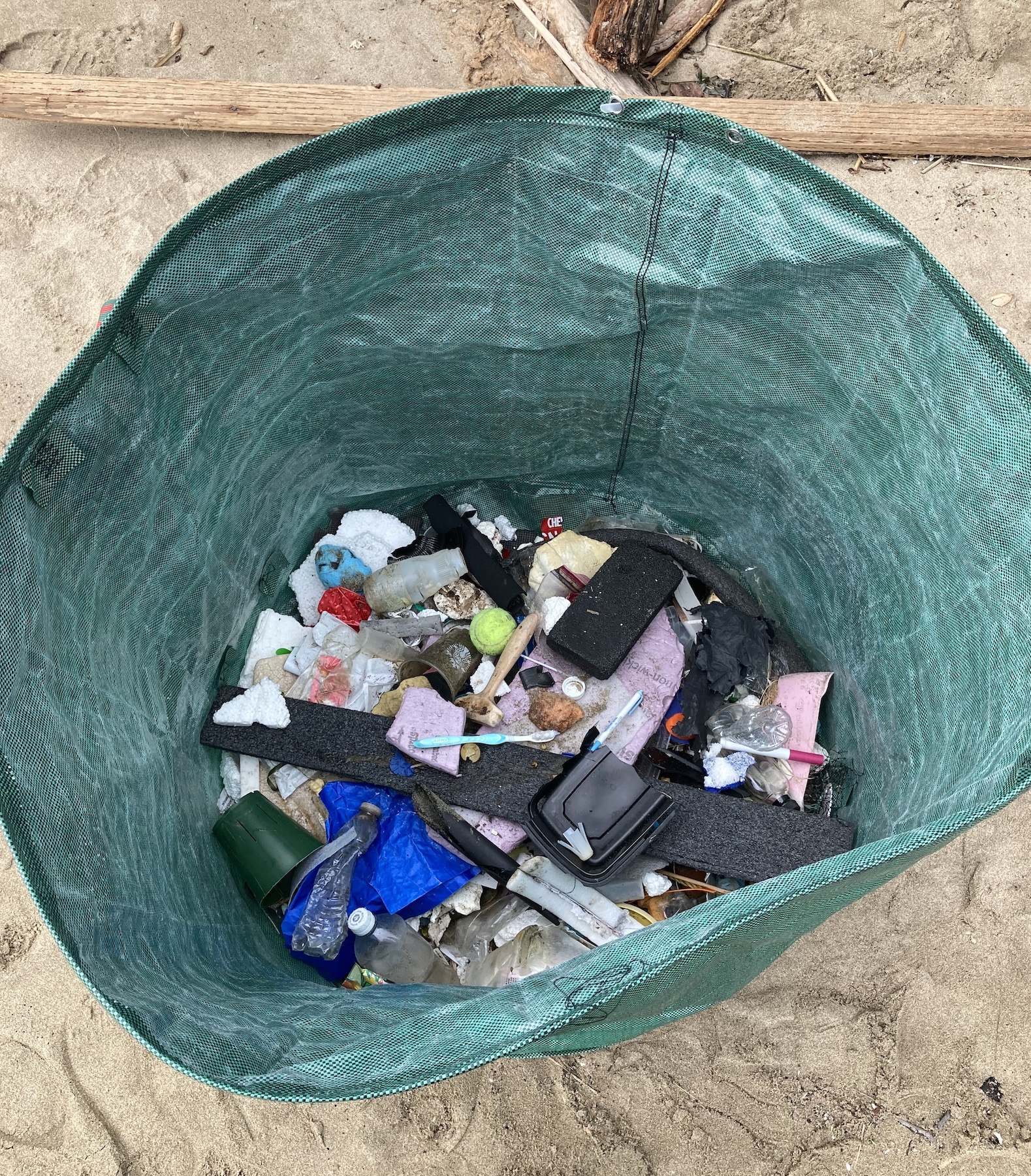Collected trash