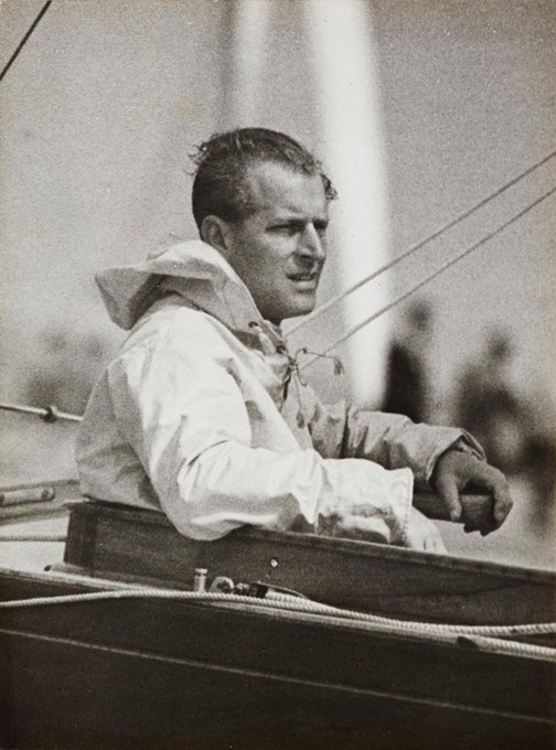 Prince Philip at the Tiller