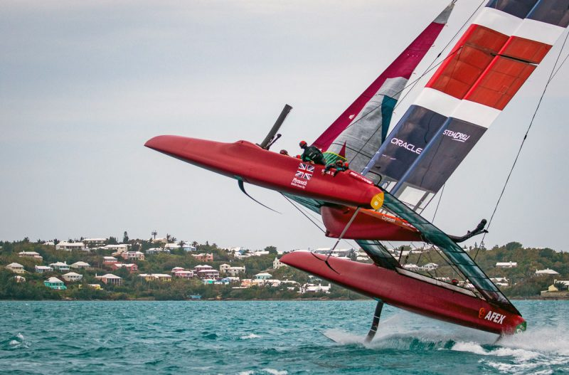Leaping catamaran