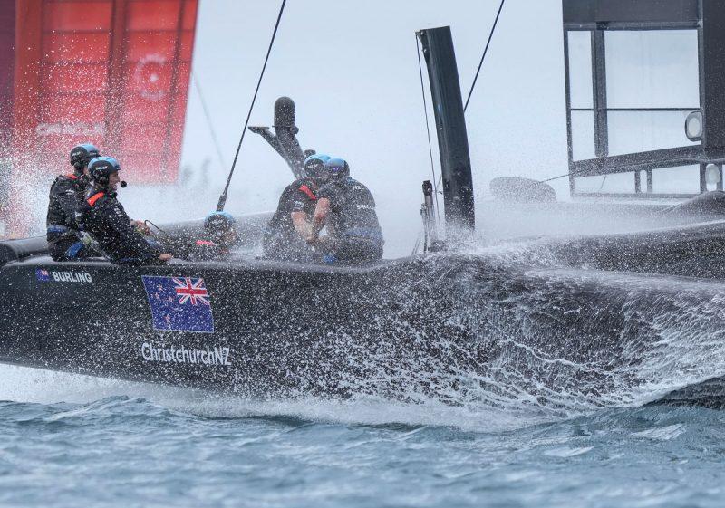 Spray on Kiwi boat