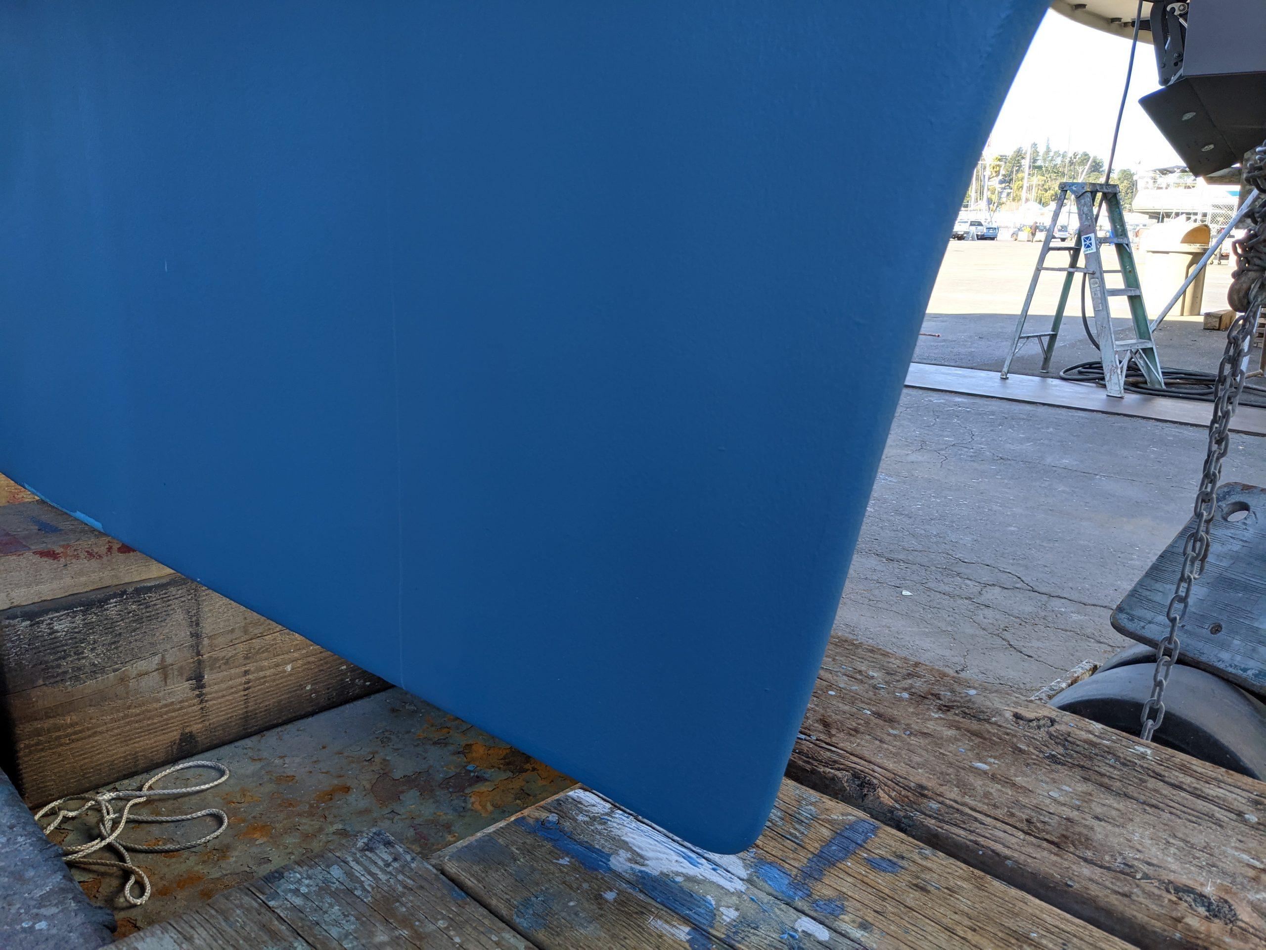 Repainted keel