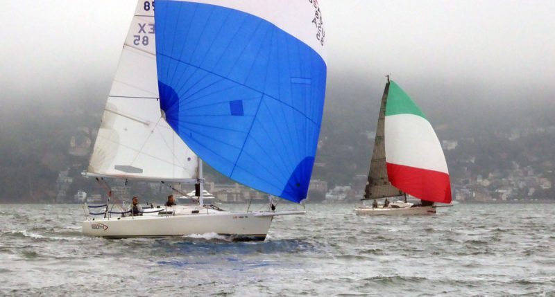 Russian Roulette and CentoMiglia with spinnakers