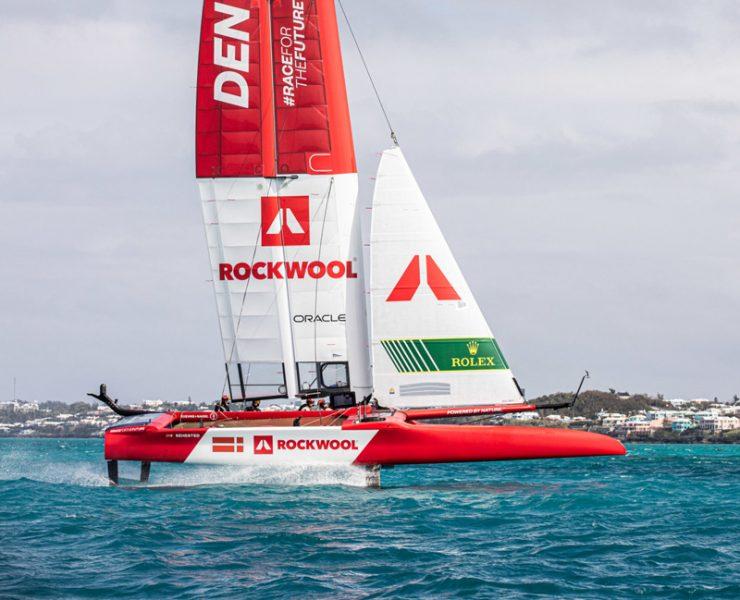 Denmark's F50 foiling in Bermuda