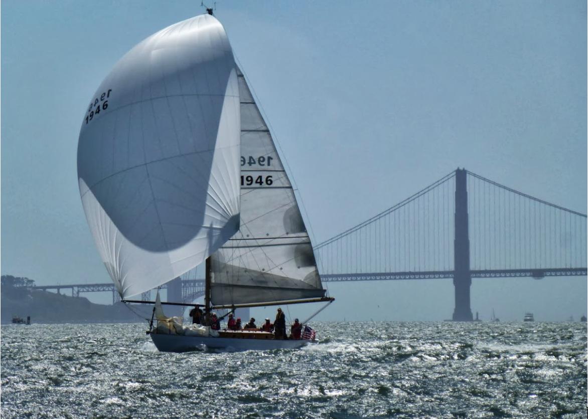 Kate II under sail