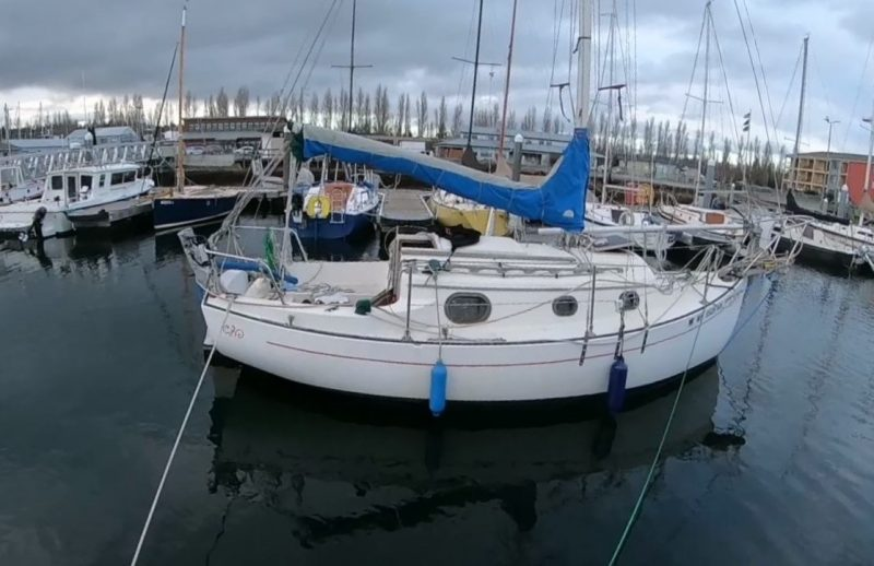 Warping a boat