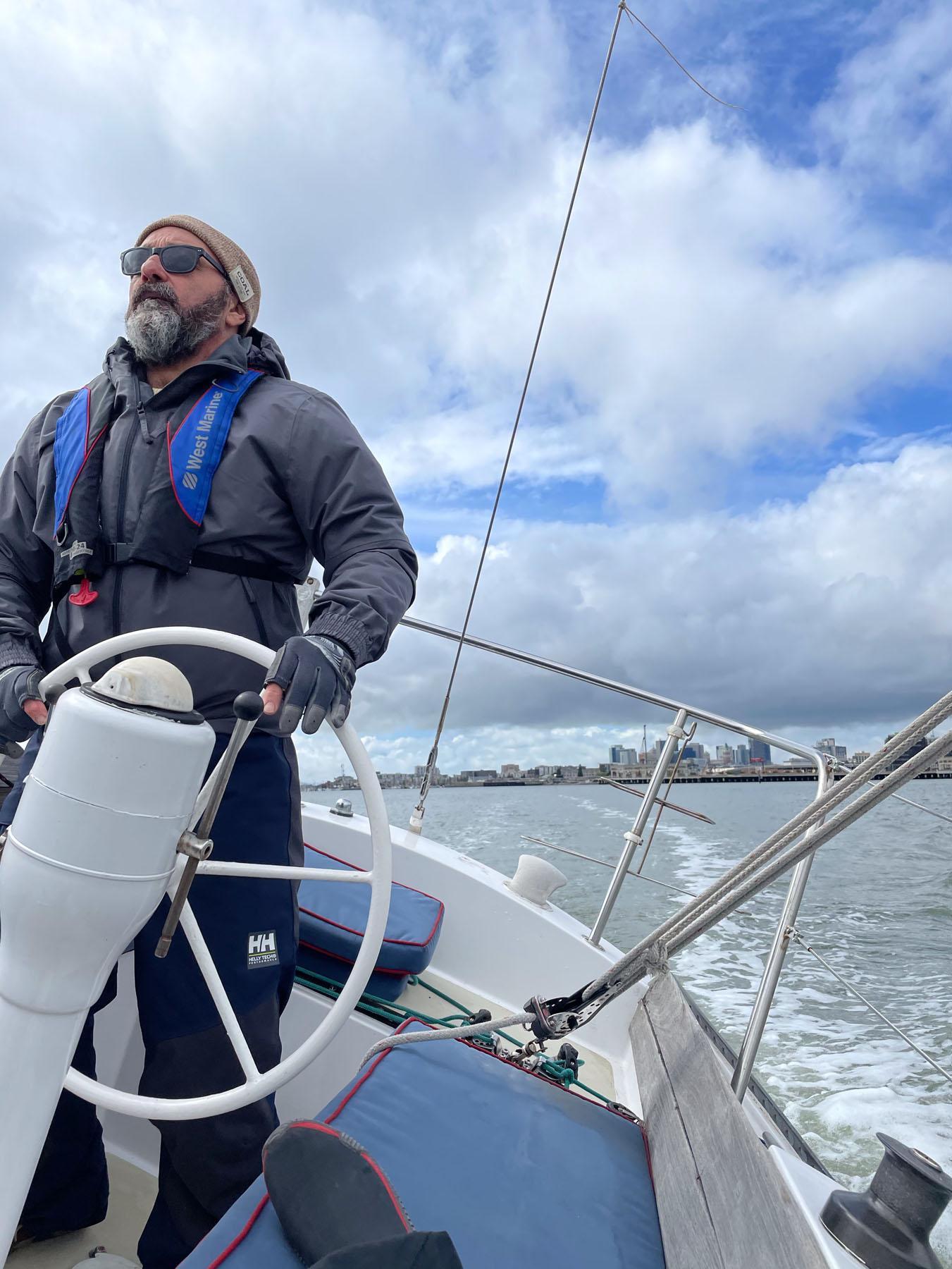 Roger Nunez aboard Summer Sailstice