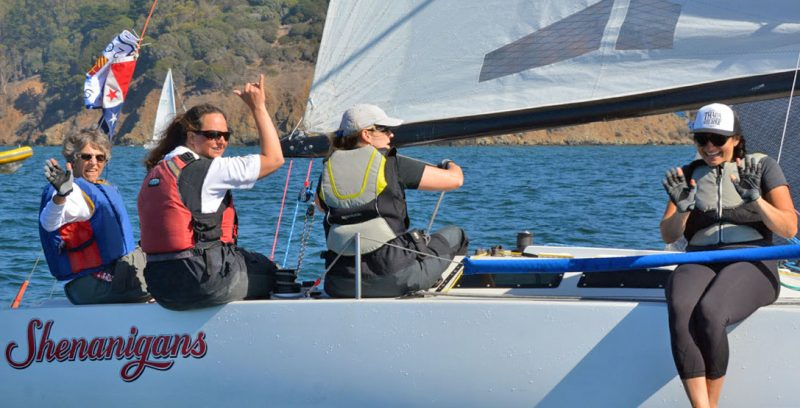 Shenanigans racing with all-woman crew