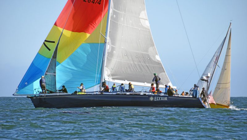 Elyxir with colorful spinnaker