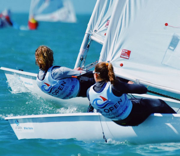 Two Laser Radials racing