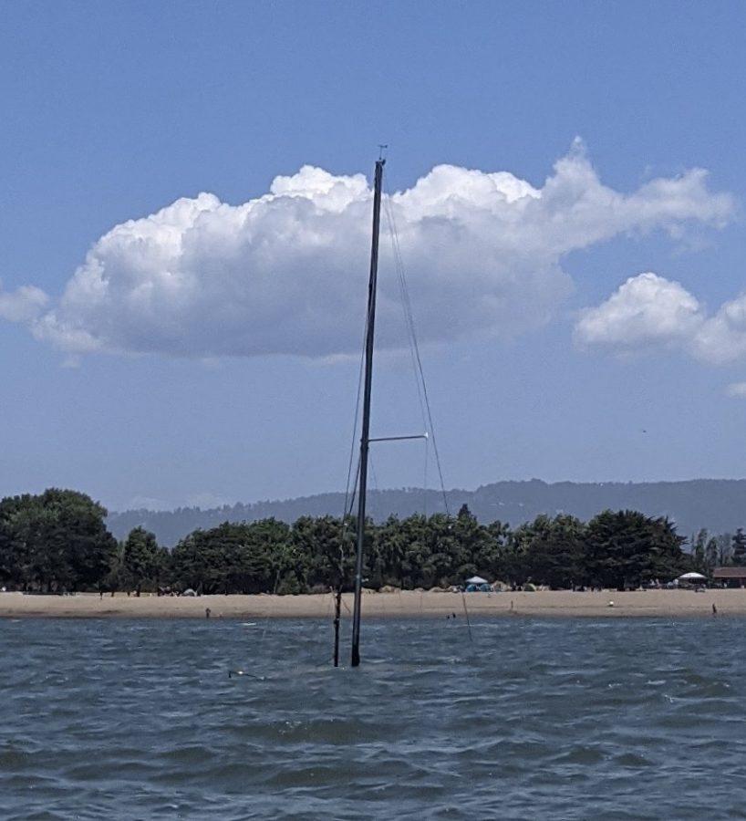 Mast visible