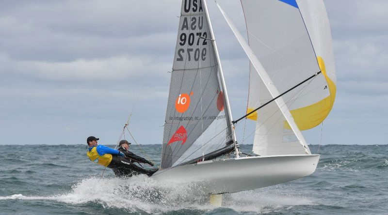 5O5 planing with spinnaker