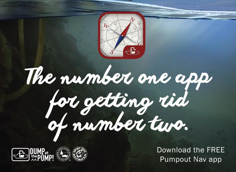 'Pumpout Nav' app ad