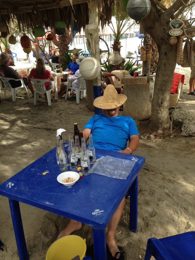 Person enjoying a chair in Mexico