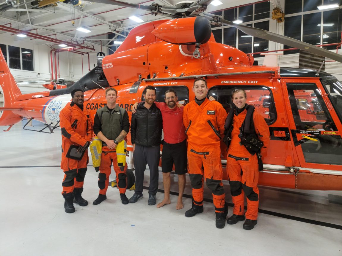 USCG rescue team