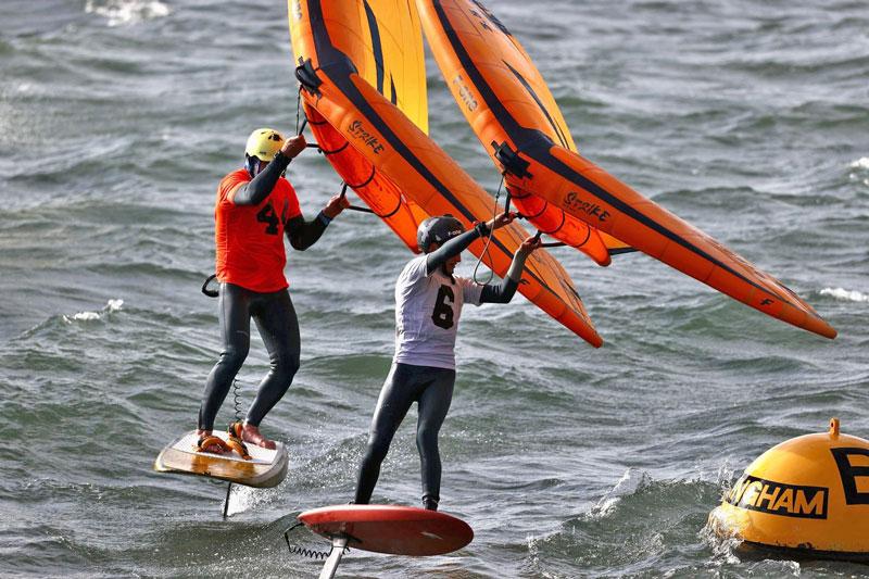 Wing Sailors at A Buoy