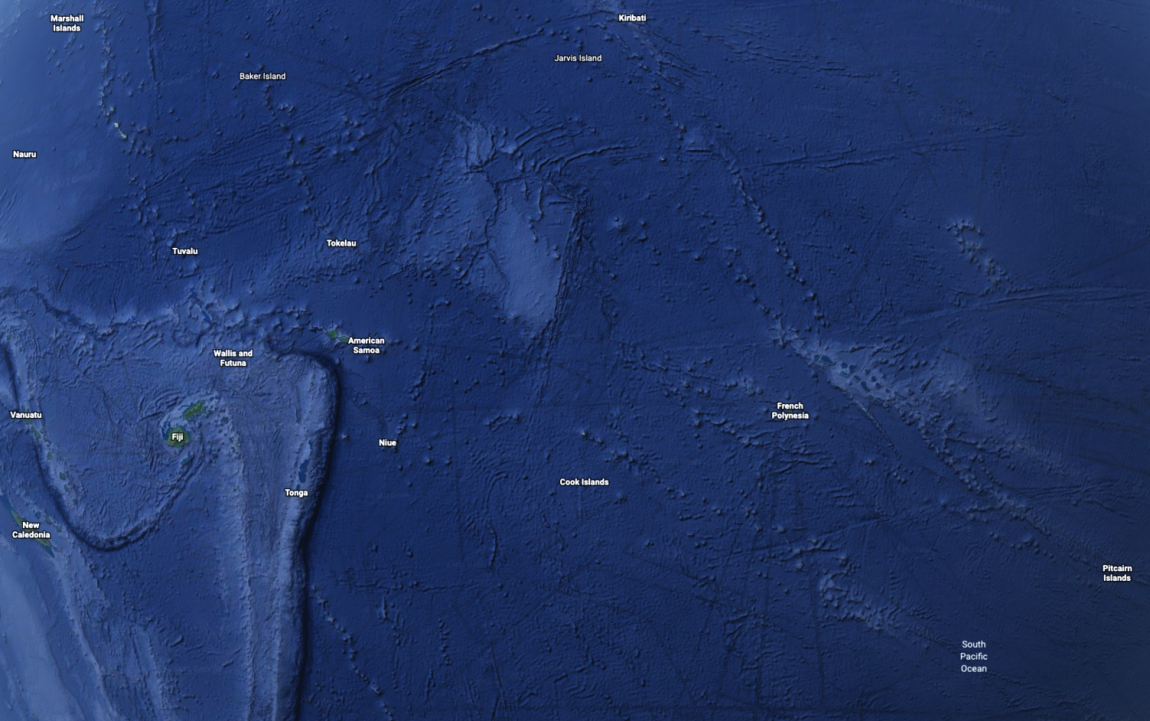 Google Earth view South Pacific